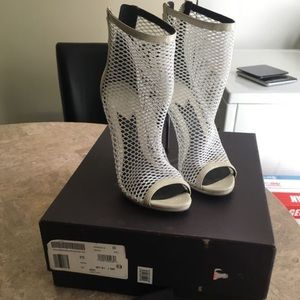 Brian Atwood White Booties Size 6